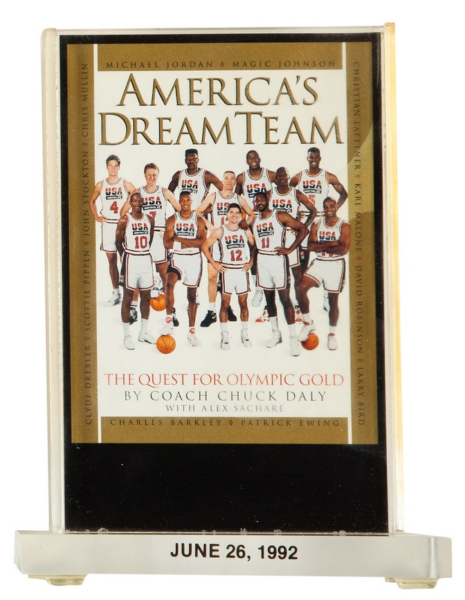 9da039a1dd5b A collection of memorabilia from the 1992 gold-winning U.S. Olympic  Basketball  Dream Team  is heading for sale at Heritage Auctions.