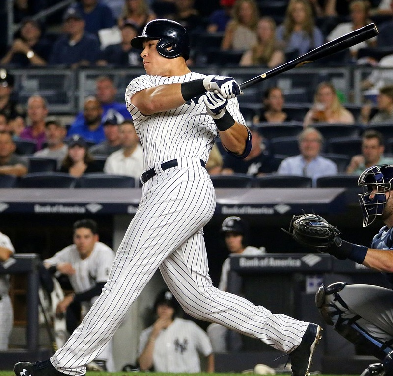 size 40 c92c0 b0523 Aaron Judge's MLB debut jersey tops $160,000 at auction