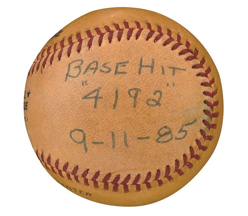 Pete Roses Record Breaking Baseball Sold For More Than 400000