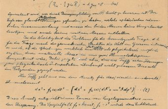 Albert Einstein's handwritten manuscript