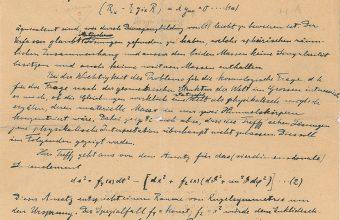 Albert Einstein's handwritten manuscript
