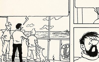 Here's original Tintin artwork