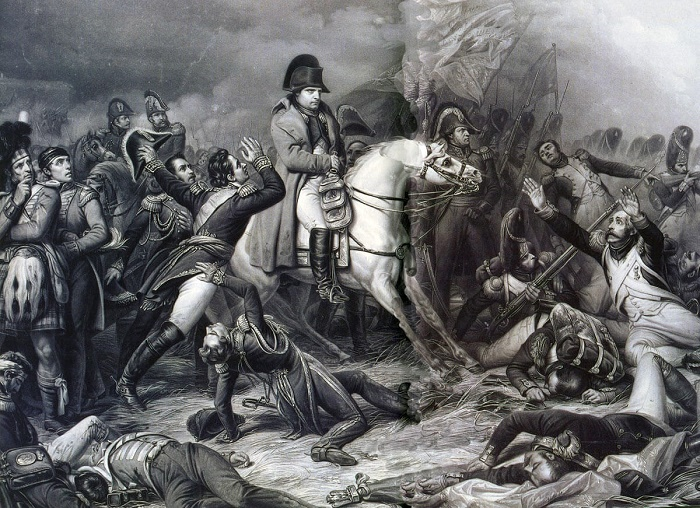 Napoleon at the Battle of Waterloo in June 1815