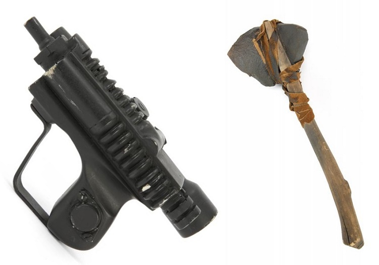 The sale also features an Imperial Biker Scout blaster and an Ewok hand axe