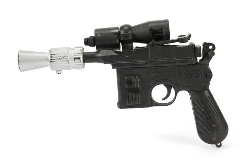 Han Solo's blaster, built using a model of a German Mauser C96 Broomhandle pistol