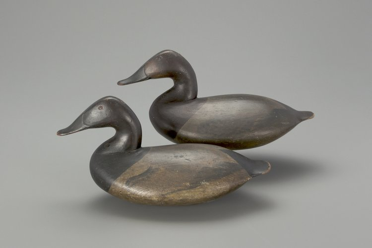 Rigmate canvasback decoy pair