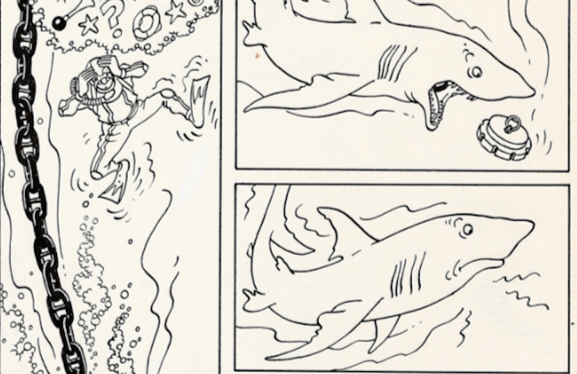 Tintin Herge Red Sea Sharks