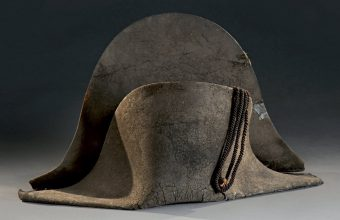 Napoleon's bicorne hat, reportedly worn at the Battle of Waterloo
