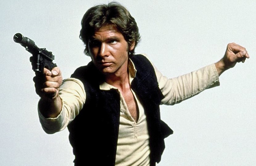 Han Solo and his trusty blaster