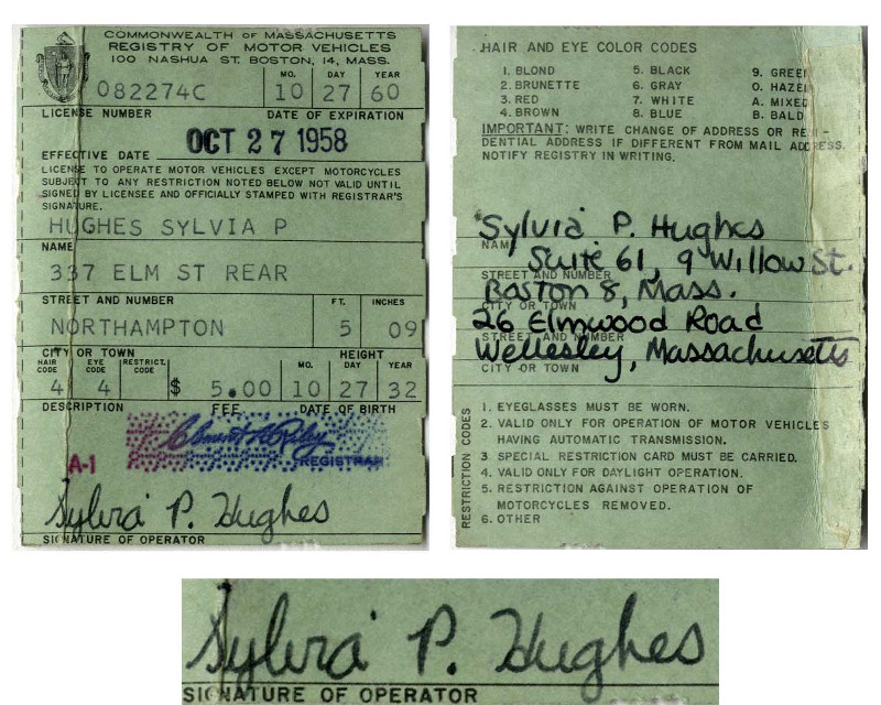 Sylvia Plath Driving License