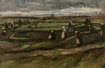 early landscape painting by Vincent van Gogh