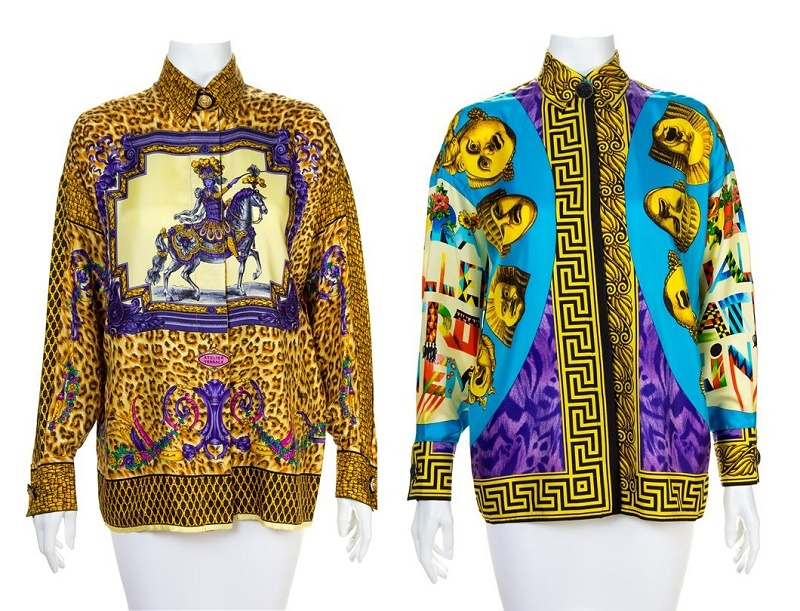 A Gianni Versace Silk Atelier Print Shirt, 1990s (est. $600 - $800) and a Silk Print Shirt, 1995 (est. $600 - $800)