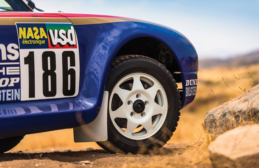 The Porsche 959 Paris-Dakar rally car, one of only five examples in existence