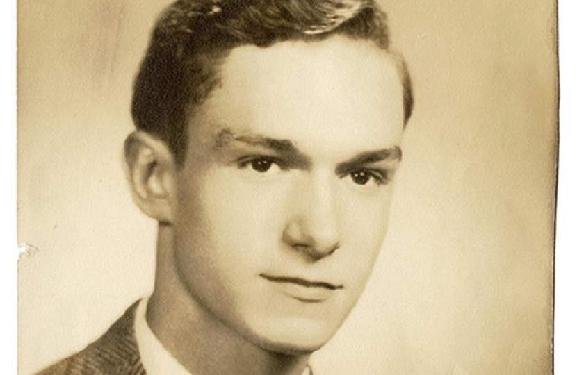 Hugh Hefner, pictured as a student at Steinmetz High School in Chicago