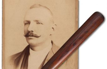 The only-known Cap Anson game-used bat in existence