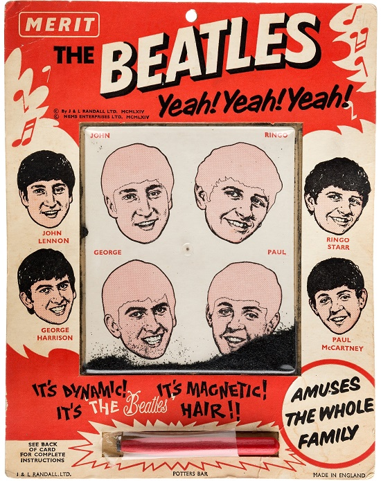 The Dailey collection includes weird and wonderful examples of Beatles memorabilia, such as this magnetic hair game
