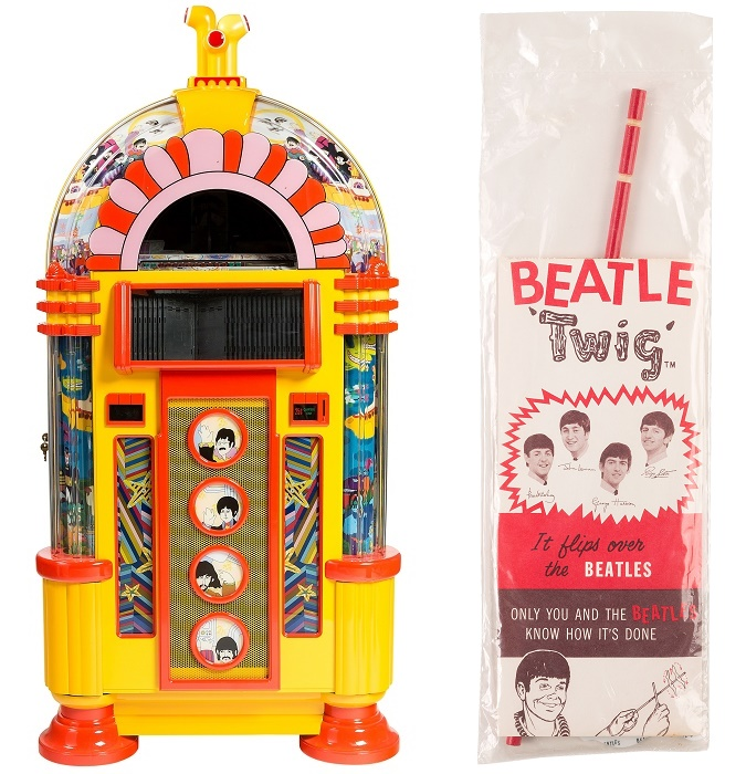 A rare Yellow Submarine jukebox, and a vintage Beatles 'twig' game
