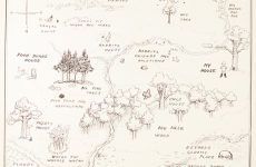 EH Shepard Hundred Acre Wood Map