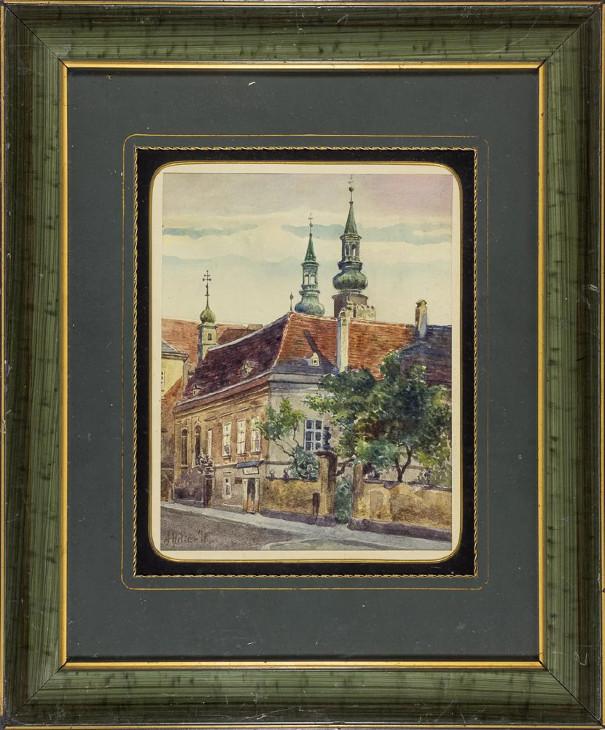Adolf Hitler Watercolour Painting