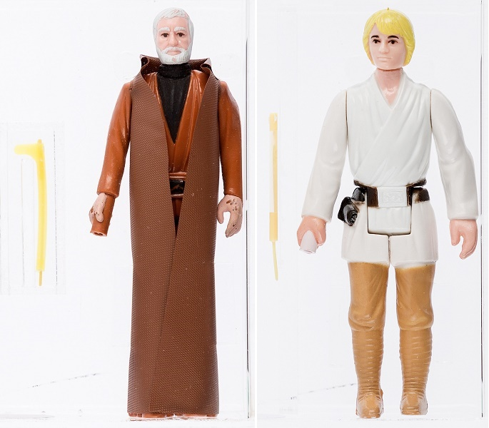 Rare production prototypes of Obi-Wan Kenobi and Luke Skywalker