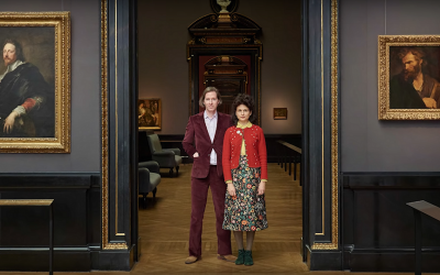 Wes Anderson and Juman Malouf at the Kunsthistorisches Museum in Vienna