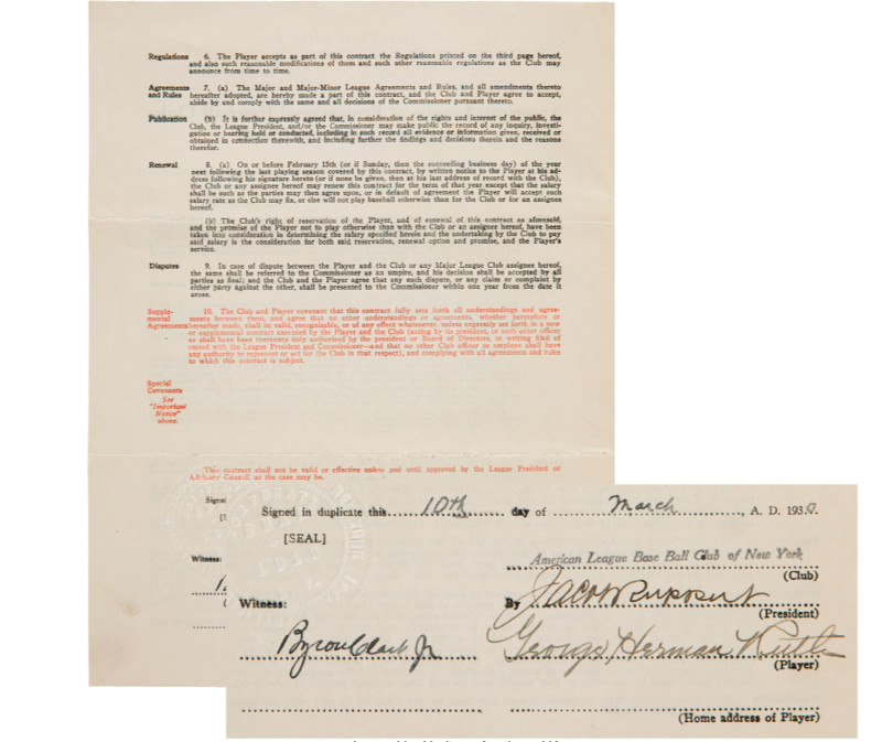 Babe Ruth Document