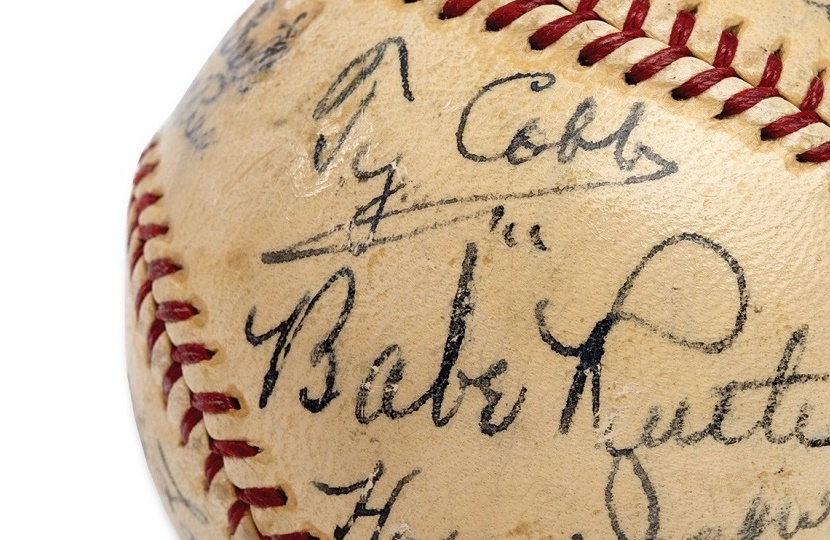 The baseball, signed by 11 legendary figures in the game, sold at SCP Auctions for $623,369