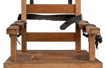 Although many electric chair offered for sale are movie props, this one is believed to be the genuine article