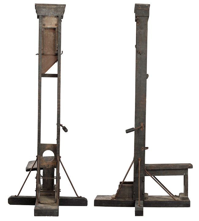 The guillotine is thought to originate from France, as it was never used as a method of execution in the U.S