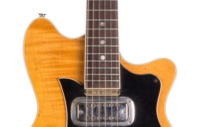 The 1963 Maton Mastersound MS-500 electric guitar played by George Harrison in 1963