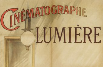The poster was created to promote the Lumiere brothers' first film screenings in Paris, whcih marked the birth of the movie industry in 1895
