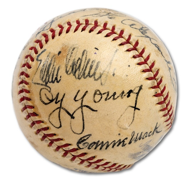 The ball remained in remarkable condition, having spent more than 50 years untouched in a safe deposit box
