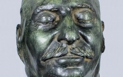 The bronze death mask of Joseph Stalin is thought to be one of just 12 examples made following his death in 1953