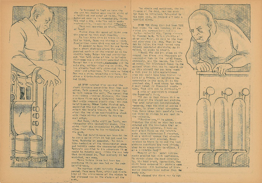 Seigel and Shuter printed copies of their fanzine using equipment at their Cleveland high school in 1932