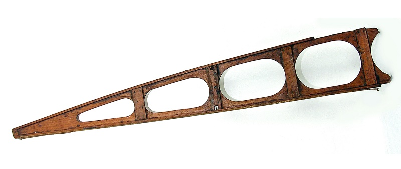 A wooden rib section from the wing of the transatlantic Vickers Vimy aircraft