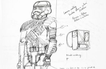 John Mollo's original Star Wars sketchbooks will be offered for sale in London on December 11