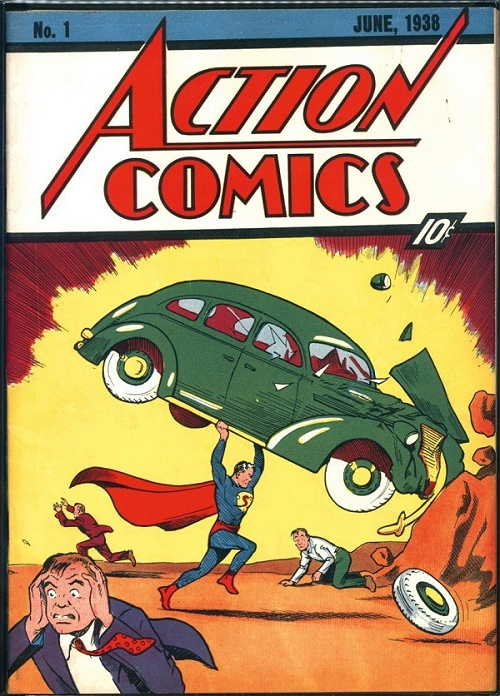 Superman as we know him today, making his debut in Action Comics #1 in 1938