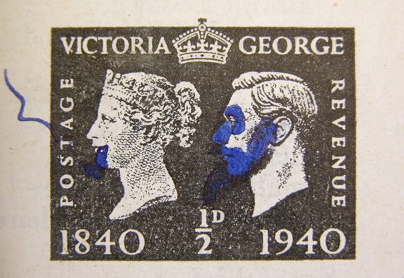 Lennon's anti-authoritarian streak is evident in the doodles he added to Queen Victoria and King George VI