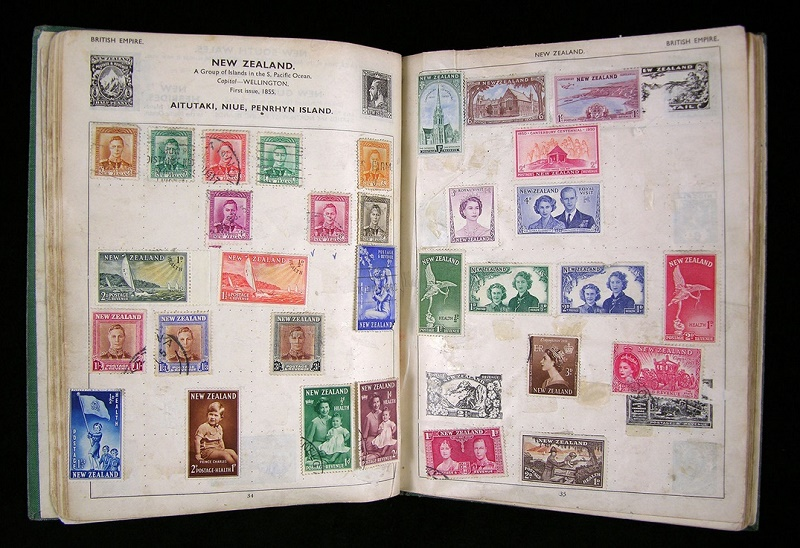 Lennon collected stamps for several years throughout his childhood, and his album contains 565 examples from around the world