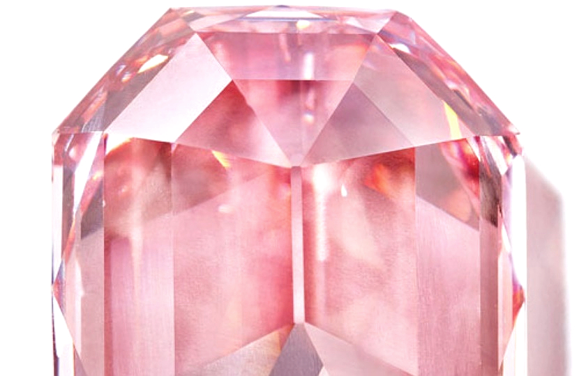 The 'Pink Legacy' diamond weighs in at an enormous 18.96 carats