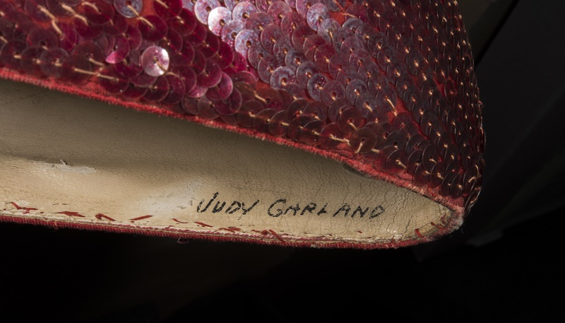 Judy Garland's name is still marked inside, 80 years after they were made for her by MGM Studio's costume department