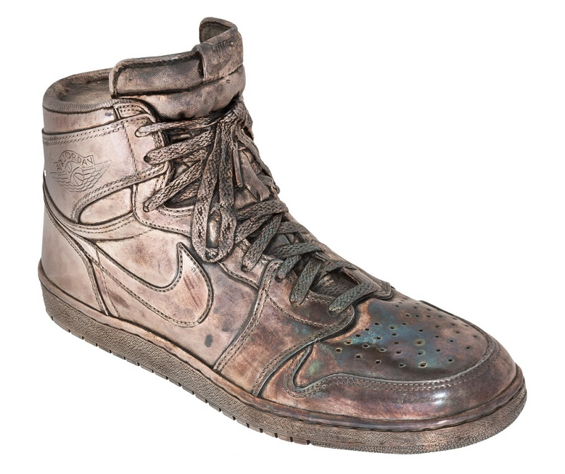 Michael Jordan's wife Juanita commissioned the creation of 10 silver sneakers for her husband's birthday in 1995