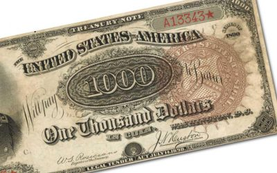 "The 1890 $1,000 'Grand Watermelon' note is known as the ""Holy Grail of American currency"""