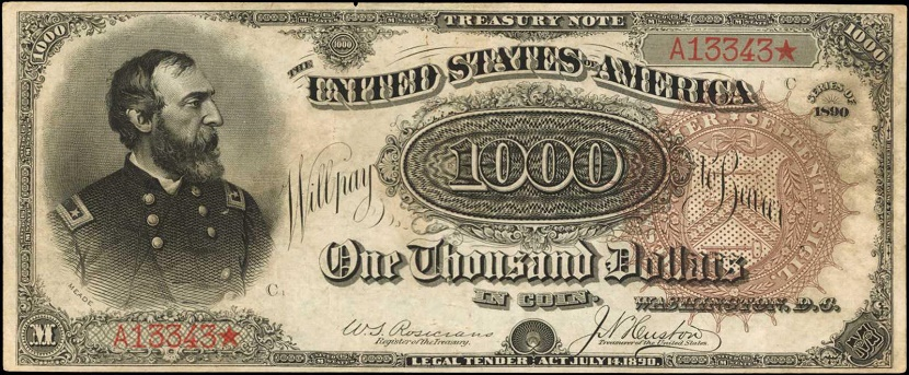 The note features Major General George Meade, who led the Union army to victory at the Battle of Gettysburg