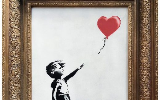 The original painting Girl With Balloon sold for a record £1.04 million - but then...