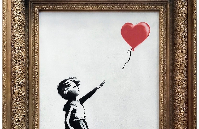 The original painting Girl With Balloon sold for a record £1.04 million- but then