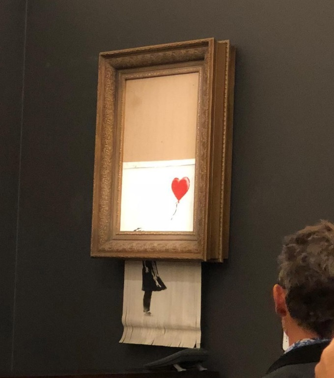 Banksy's self-shredding'Girl With Baloon artwork caused chaos at Sotheby's