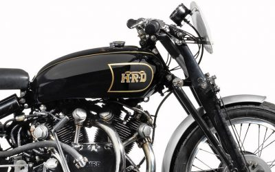The Vincent Black Lightning, known as the 'Holy Grail' for many motorcycle collectors