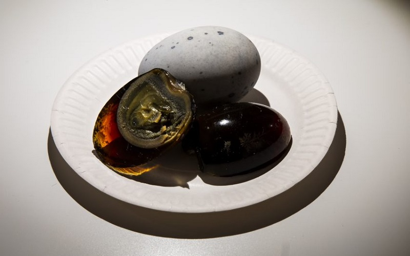 Chinese 'century eggs' are preserved for several months before being eaten