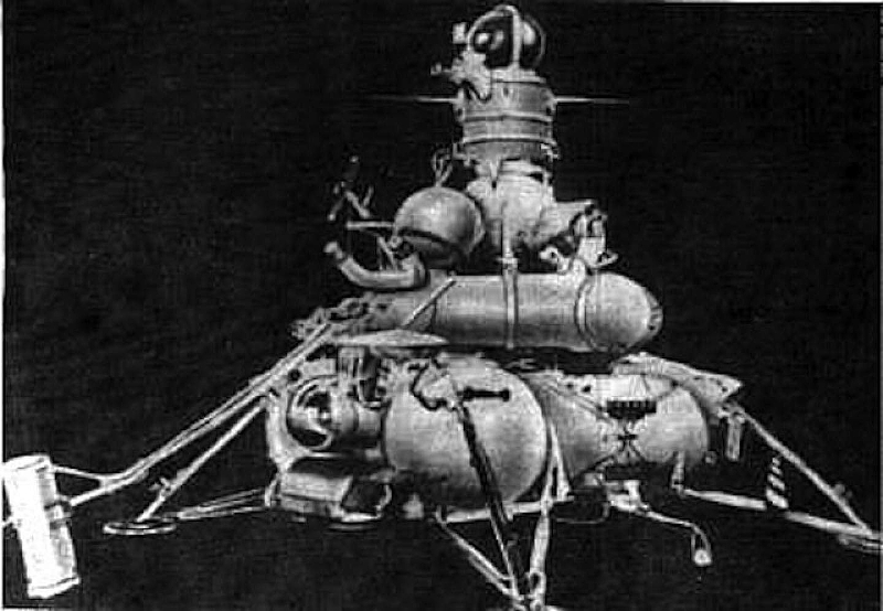 The original Luna-16 probe, which landed on the Moon on September 20, 1970